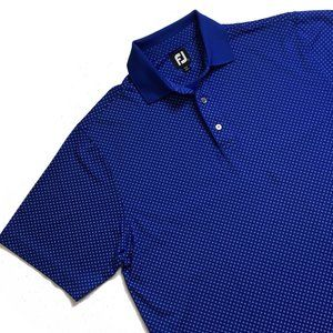 FOOTJOY Blue Golf POLO SHIRT Size Large